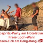 MyDirtyHobby presents Alexandra-Wett – Abspritz-Party am Hotelstrand Freie Loch-Wahl! Jeder darf ran AO – Cumshot party at the hotel beach. Free hole choice! Everyone can run! AO