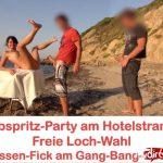 MyDirtyHobby presents Alexandra-Wett – Abspritz-Party am Hotelstrand Freie Loch-Wahl! Jeder darf ran AO – Cumshot party at the hotel beach. Free hole choice! Everyone can run! AO