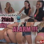 MyDirtyHobby presents JuliettaSanchez – Madelsabend – 2fach Spritz Alarm Teil 1 – Girls Night – 2x Spray Alarm! (Part 1)
