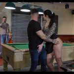 40 years old, My Wife With no Panties – Hardcore DP on the pool table