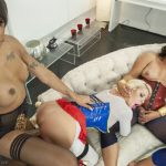 TSPussyHunters presents The League of Extraordinary Transexuals: Super Heroine sexy Threesome