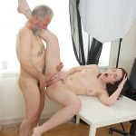 OldGoesYoung presents Foxy Fox in Tricky teacher shoots his dick moving inside a fresh brunette student – 06.09.2017