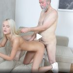 OldGoesYoung presents Joleyna Burst in Old man seduces blonde maid into serving his old dick – 03.10.2017