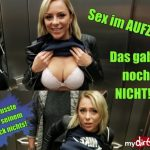 MyDirtyHobby presents LilliVanilli – Ein Traum Nein, Realitat – Sex im Aufzug und fast erwischt – A dream No, reality !! SEX IN LIFT and almost caught!