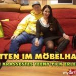 MyDirtyHobby presents QueenParis – Mitten im Mobelhaus – Mein krassestes Teeny-Fick Erlebnis