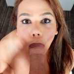 Tspov presents Claudia Rosa in amateur latina TS enjoys slobbering on the cock – 19.10.2017