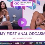 Virtualrealtrans presents Kelmanny Koutty in My first anal orgasm – 01.10.2017
