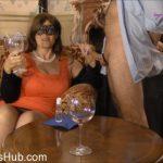 Masked Eva in A Wine Glass Full Of Sperm