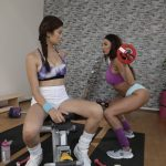 FitnessRooms presents Anissa Kate & Miyuki Son in Big tits Brazilian and French MILF – 20.11.2017