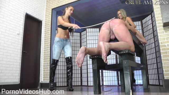 Watch Online Porn – Cruel Amazons presents Mistress Amanda, Lady Ariel in Two Mistresses With A Cane (MP4, HD, 1280×720)