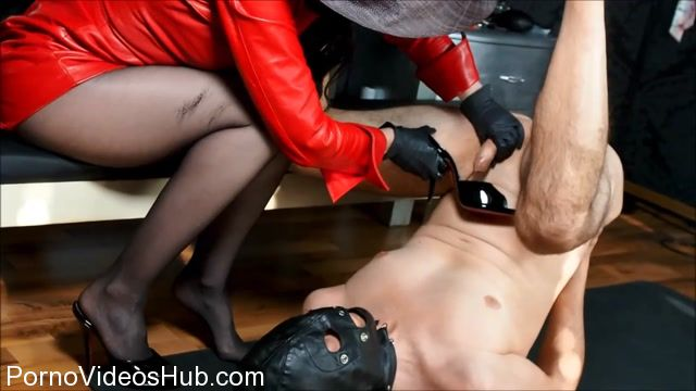 Watch Online Porn – German Femdom Lady Victoria Valente in Perverse Handjob With Cum Eating In Red Leather Dress (MP4, HD, 1280×720)