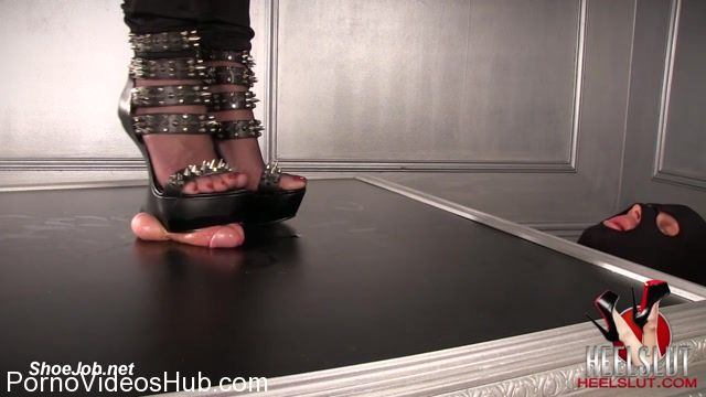 Watch Online Porn – Heel Slut presents Cum For Her Spiked Wedges (MP4, FullHD, 1920×1080)