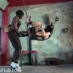Kinky Mistresses in Kianas Huge Black Rubber Strap-on