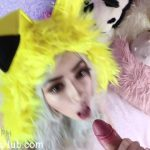 ManyVids Webcams Video presents Girl Kiittenymph in Pikachu Slut Suck & Fuck