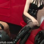 Mistress Blackdiamoond in The boot servant