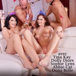 Abbie Cat, Abril Gerald, Cindy, David Perry, Dolly Diore, Dona Belle In Une DP Pour La Nouvelle Annee ! (DDF Network)
