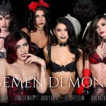 Wankzvr presents Audrey Royal, Felicity Feline, Franchezca Valentina, Gia Paige, Gina Valentina, Jennifer White, Moka Mora in Semen Demons – 31.10.2017