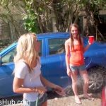 GFLeaks – GFRevenge presents Maddison Hardy, Kiara Knight in Car Wash Cuties – 27.12.2017