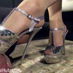 Heel Slut presents Worship My Shiny Silver Stiletto Heels