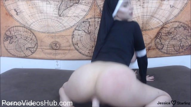 Watch Online Porn – ManyVids Webcams Video presents Girl Jessica Starling in Possessed Nun Gets Anal Creampie (MP4, FullHD, 1920×1080)