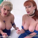 Lady-sonia presents Lady Sonia, Red in Aunt Sonia And Aunt Red Want To See Your Cock