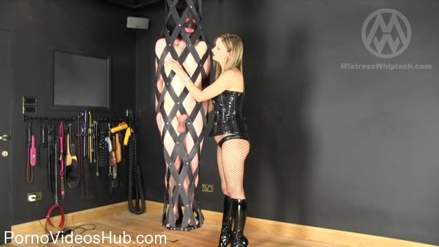 Watch Online Porn – Mistress Nikki Whiplash in Suspended and Humiliated With One Finger Orgasm (MP4, SD, 1024×576)