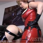 Mistress T in Latex Gimp Takes Huge Lady Cock