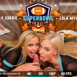 Virtualrealporn presents Nathaly Cherie, Lola Myluv, George Lee in Superbowl Halftime – 02.02.2018
