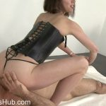 CLUBSTILETTO presents Mistress Bijou Steal In Hot Leather Erotic Facesitting