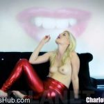 Charlotte Stokely in Mega Cum Eating Fag