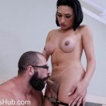 ShemaleShy presents Brunette shemale beauty enjoys hot anal fuck – 14.03.2018