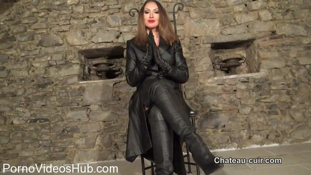 Watch Online Porn – Chateau-Cuir presents Goddess Yasmin in full leather part 1 (MP4, HD, 1280×720)