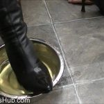 ELISE BULLIES BALLS UK presents UK Mistress Elise In New Boot Cleaning Tactics
