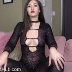 Goddess Venus in Mesh Catsuit Body Worship