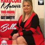 Mature.nl presents Bella S. (51) in curvy housewife Bella doing her toyboy