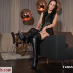 Fetish Liza in Be My leather boot slave