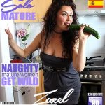 Mature.nl presents Zazel Paradise (EU) (51) in Spanish housewife Zazel Paradise playing with a cucumber – 11.06.2018
