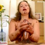 Anjee Lowe in Messy Chocolate Handjob