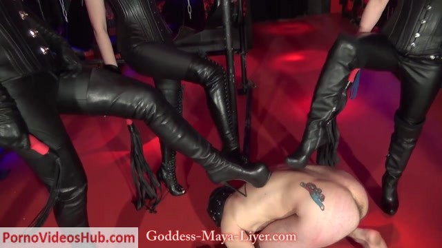 Watch Online Porn – GODDESS MAYA LIYER – Fetish Liza, Mistress Lilse von Hitte – Triple Boot Worship (MP4, FullHD, 1920×1080)