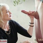 LilusHandjobs presents Lilu in I JERK OFF 100 Strangers hommme HJ – Facial HandJob at the balcony