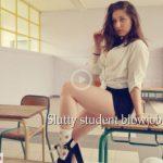ManyVids presents Trish Collins in Slutty student blowjob and footjob (Premium user request)