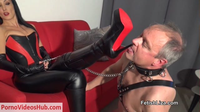 Watch Free Porno Online – Fetish Liza in My leather bootlicker part 1 (MP4, HD, 1280×720)