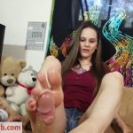 Katy Faerys Forbidden Fetish Films presents Stroking Your Meat With My Stinky Feet