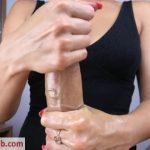 Kriss Kiss in Teen with Oil Tits Handjob and Cum Boobs