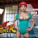 VRCosplayX presents Alix Lynx in Street Fighter A Cammy XXX Parody