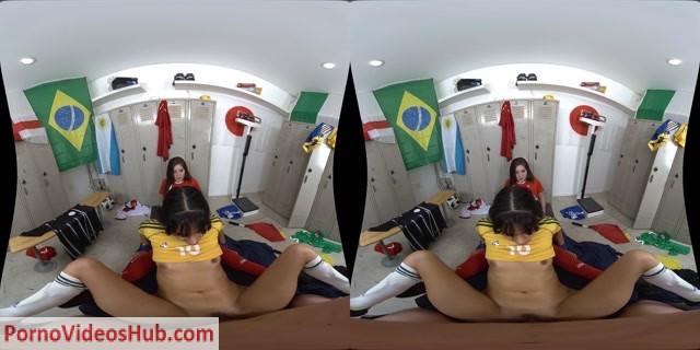 Watch Online Porn – WankzVR presents Jojo Kiss, Katya Rodriguez in Two Girls, One World Cup – 13.07.2018 (MP4, UltraHD/2K, 3200×1600)