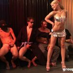 GroupBanged presents A Blonde Gang Bang Slut On High Heels