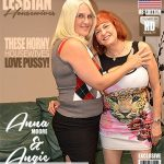 Mature.nl presents Angie Summers (59), Anna Moore (43) in Naughty mature lesbians sharing their pussies – 08.08.2018