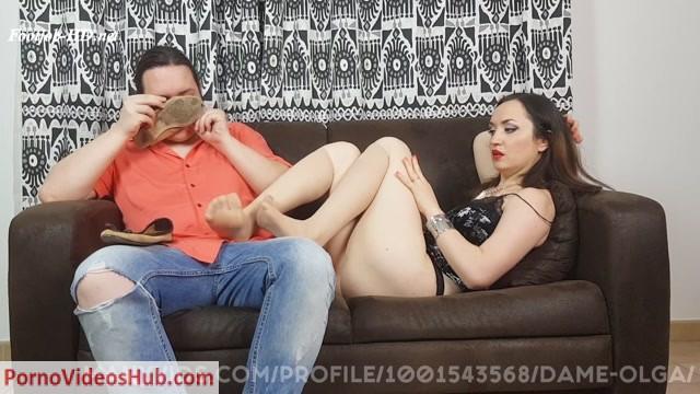 Watch Online Porn – Dame Olgas Foot Fetish Club – Custom Request: Footjob Denial and Cum In Sheer Nylon Socks (MP4, FullHD, 1920×1080)