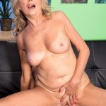 60PlusMilfs presents Bethany James (64) in Pantyhose-Wearing Divorcee Gets A Creampie